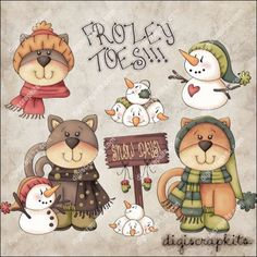 Frozey Toes 1 Clip Art Set