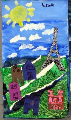 Cassie Stephens:  Eiffel Tower Collage