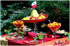 Mexican Fiesta Party - totally doing this before our big vaca this summer with the kids!!