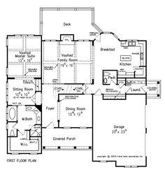 Home Plan by Frank Betz Associates