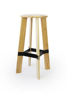 Contra - bar stool. solid wood. ash. oak. walnut. metal footrest.  http://www.magnuspettersen.com
