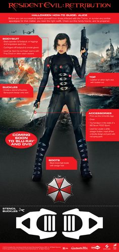 Resident Evil Retribution, Alice costume - keeping this in mind for Halloween