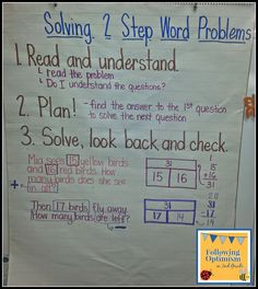 Following Optimism in 2nd Grade: two-step word problems