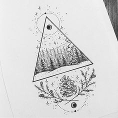 Cold woodland cabin ❄️ DM to book ✌️#cabininthewoods #drawing #illustration #blackpen #blackink #blackworkers #iblackwork #pines #pinecone #tattoo #tattooidea #tattoodesign #copic #fineliner #moonphases #tattooist #linetattoo #triangletattoo #canberra #australia #flash #flashaddicted #blackworknow
