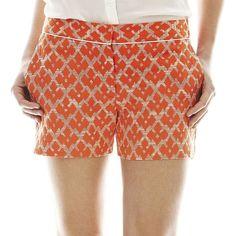 Joe Freshâ Piped Jacquard Shorts ($29) ❤ liked on Polyvore