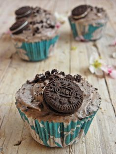 Místo hlavy CUPCAKE: Oreo cupcakes
