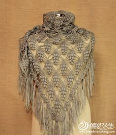 This is quite beautiful and there is a chart  chart can be used for other kind of crochet scarves
