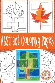 Abstract Coloring Pages {Free Kids Printable}