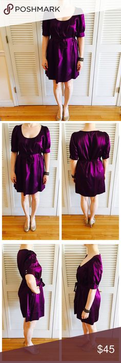 The Limited Silk Dress Worn, but in great shape! Silky soft fabric! 56% silk and 44% cotton. Comes with sash tie around waist. Very comfortable!!!! The Limited Dresses Mini
