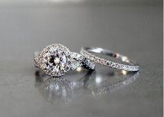 2.35CT DIAMOND SOLID 14K WHITE GOLD ENGAGEMENT WEDDING RING SET