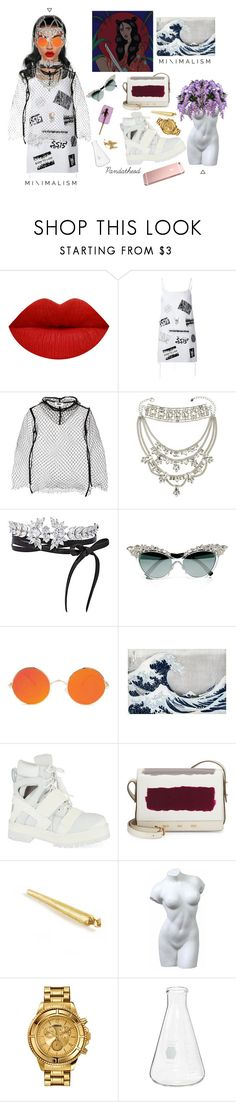 """""""Etheral Beauty Style"""" by pandatheod ❤ liked on Polyvore featuring Erickson Beamon, Louise Alsop, MM6 Maison Margiela, Juicy Couture, Fallon, Dsquared2, Hood by Air, VBH and Versus"""