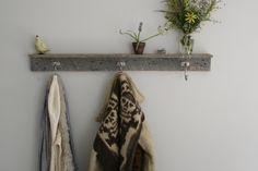 Reclaimed Coat Rack with Shelf 3 Hooks by EverettCo on Etsy