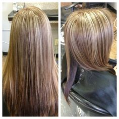 Blonde and Carmel highlights