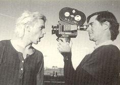 River Phoenix & Gus Van Sant on the set of My Own Private Idaho, 1990