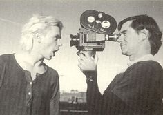River Phoenix & Gus Van Sant on the set of My Own Private Idaho, 1990