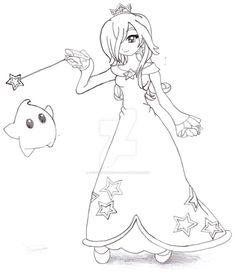 Princess Rosalina - Lineart by ~Anaisabel22 on deviantART ...