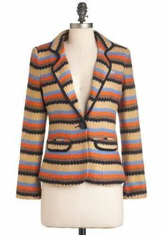 Literary Stripe Blazer M nwot $27 firm willing to trade/swap no longer available on Modcloth pet friendly and smoke-free home