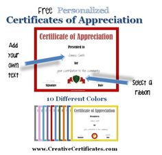 12 best certificate of appreciation images on pinterest