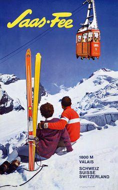 saas fee poster - Google Search Vintage Ski Posters, Cool Posters, Sports Posters, Saas Fee, Tourism Poster, Travel Posters, Switzerland Bern, Snow Place, Bar Image