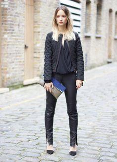 Like the pants! Zara Outfit, Zara Spain, Style Noir, Fashion Show, Fashion Outfits, Wearing Black, Street Style Women, Latest Trends, Winter Fashion