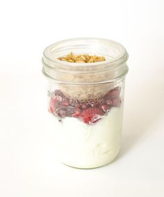Healthy Snacks in Jars - Greek Yogurt + Berries