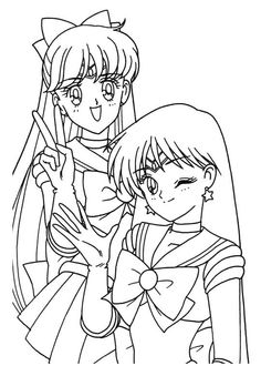 Sailor moon sailor moon lineart coloring pages for Sailor venus coloring pages