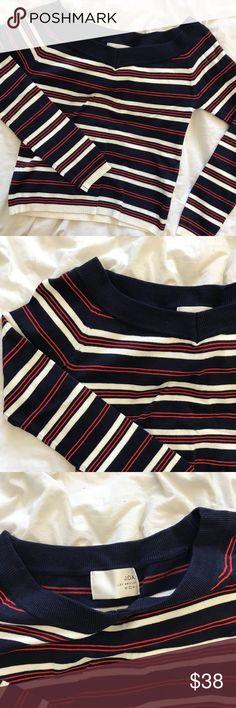 J.O.A. NAUTICAL STRIPED SWEATER TOP J.O.A. Nautical Striped Sweater top. Size small. NWT J.O.A. Tops Tees - Long Sleeve