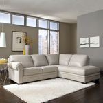 """Prescot Leather Sectional  Costco 2000 Seat depth is 21"""" Seat height is 19"""" Overall Sectional Dimensions: 104"""" W x 85"""" D x 35""""H Overall Weight: 250 lbs"""