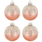 Pink Ombre Mercury Glass Ball Ornaments