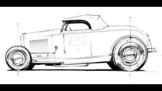 32 Ford on 32 rails Weird Cars, Cool Cars, Baby Bike, Metal Fab, 1932 Ford, Car Drawings, Go Kart, Automotive Design, Art Cars