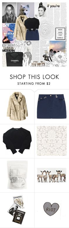 """s t a r b o y ✩ t h e w e e k n d"" by piece-of-trash ❤ liked on Polyvore featuring Uniqlo, Kenzo, American Apparel, Chanel, WALL, Assouline Publishing, Serfontaine and Monki"