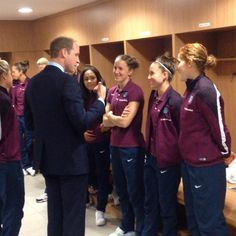 Watch: Prince William meeting the England Women's football squad at St George's Park.
