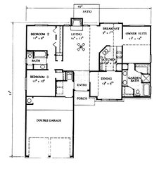 Country Style House Plans 1400 Square Foot Home 1 Story