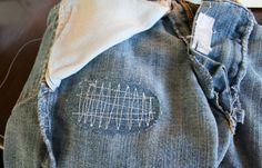 stitching denim