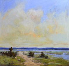 """Bethanne Kinsella Cople """"Maidstone Beach"""" - 36 x 36, Oil on Panel -- at Principle Gallery"""