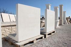 mur de soutènement préfabriqué en béton armé, muret en L lisse, monobloc.