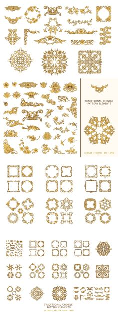Chinese Design, Ornaments, Embellishments, Ornament