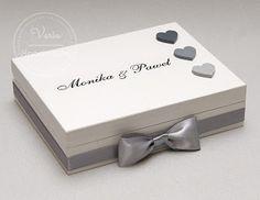 varia: Pudełko na obrączki srebrzysto-szare :)
