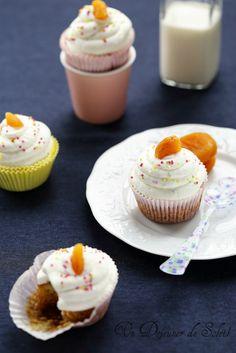Un dejeuner de soleil: Cupcakes aux abricots moelleux et marrons