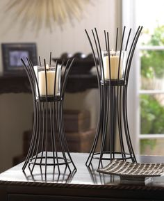 IRON REEDS CANDLE STAND DUO - Eaglecraz Gifts