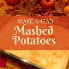 Once you make these make ahead mashed potatoes, you'll never go back! This is the best way to serve mashed potatoes at Thanksgiving dinner- delicious, too!