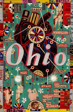 Ohio collage by Tony Fitzpatrick (I smell an art project here)
