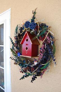 Dark Red Bird House