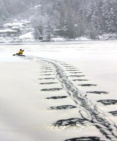 "Awesome, ""Kayaking through the ice in Gig Harbor, WA"""