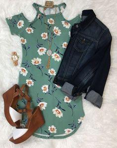 Floral Cold Shoulder Dress from privityboutique #stitchfix #summerstyle