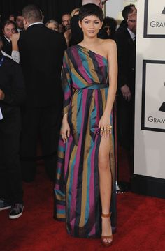 Zendaya Coleman at the 57th annual Grammy Awards. See all of the actress's best looks.