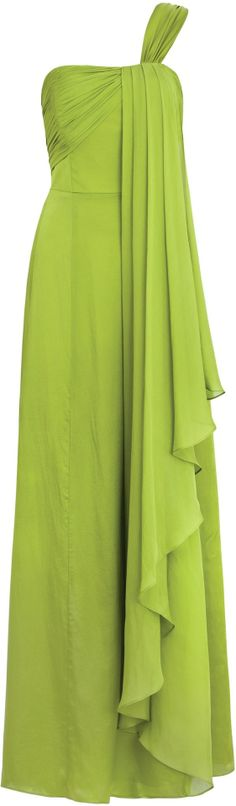 Chartreuse Chiffon Gown | The House of Beccaria~