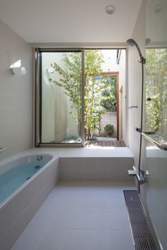 small bathroom storage ideasisdefinitely important for your home. Whether you choose the minor bathroom remodel or diy bathroom remodel ideas, you will make the best dyi bathroom remodel for your own life. Bad Inspiration, Bathroom Inspiration, Bathroom Interior Design, Interior Design Living Room, Indoor Outdoor Bathroom, Japanese Bathroom, Design Case, House Plans, New Homes