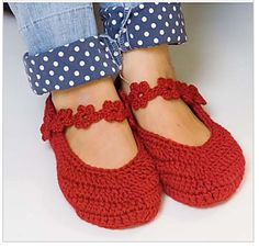 cute flower strap slipper pattern