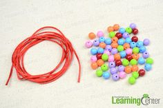 materials needed in the diy beaded bracelet